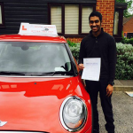 Young Driver Passes Test